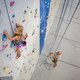 A young climber ventures up the wall at Momentum. (Momentum Indoor Climbing Gym)