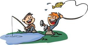 Medium kids fishing illustration