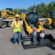"Agustin Zavala with W.W. Clyde Construction provided heavy equipment during the ""Build It"" party. (Eleanor Nave)"