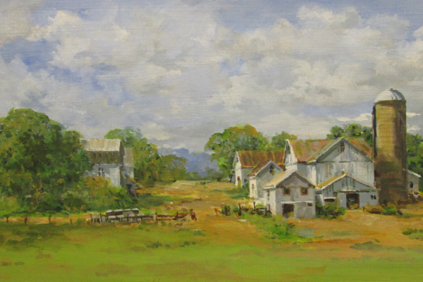 'Tevla's Farm,' a painting by Keith Hoffman.