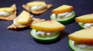 Medium cucumber 20peach 20canape