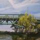 'High Tide at the Tacony-Palmyra Bridge' by Elizabeth Heller.