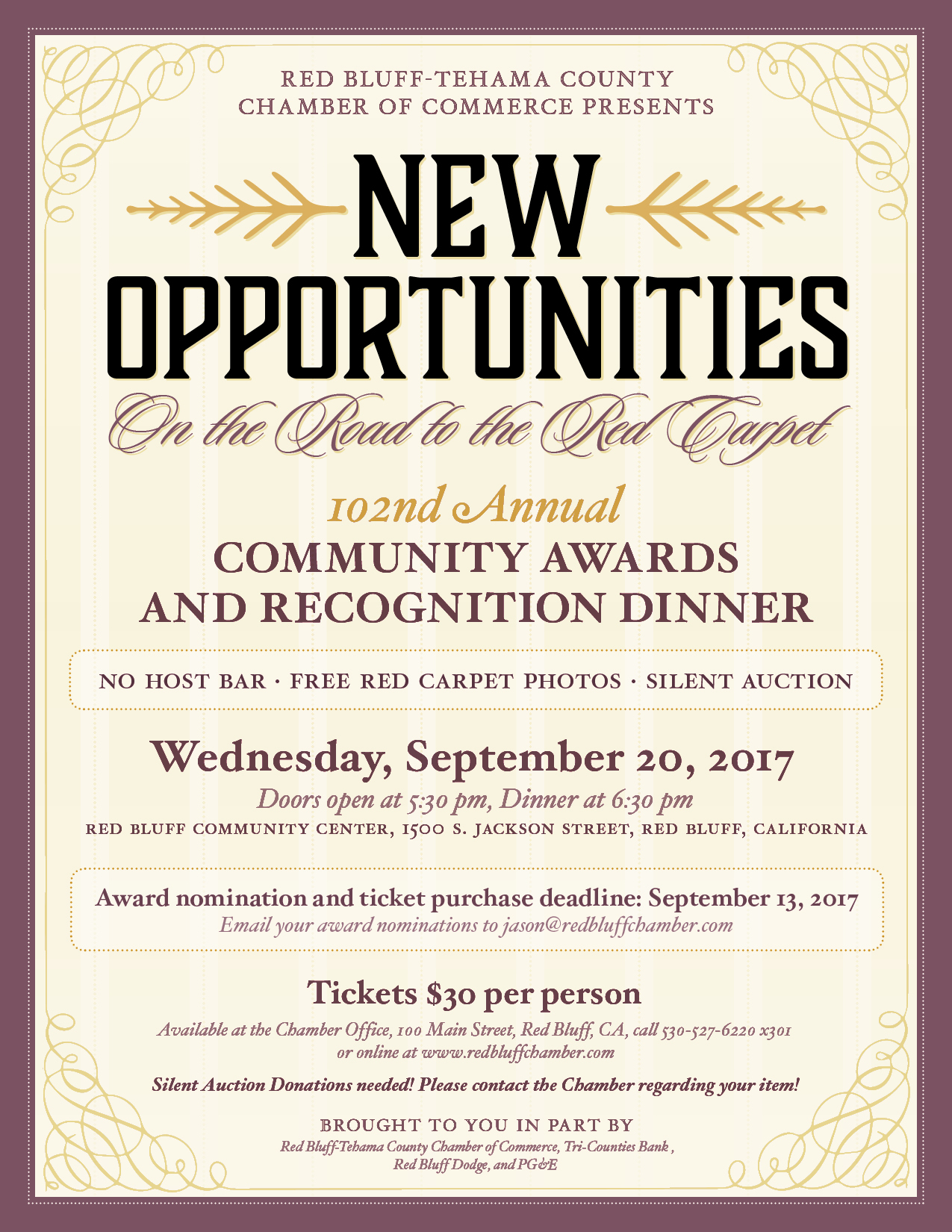 Chamber 202017 20installation 20award 20dinner flyer