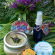 Sapphire Bee Balm Body Scrub, $20, and Sapphire Lemon Verbena Body Spray, $15, at Sapphire Herbal Boutique, handcrafted locally in El Dorado Hills, 916-224-7142, facebook.com/sapphireherbal