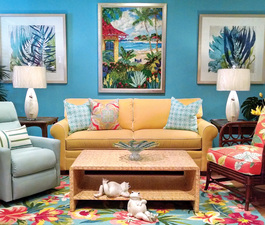Diane Knight of Sanibel Home Furnishings says listening is her best tool in working with clients Fabrics with sparkles and crystal are out right now she adds Photo courtesy of Sanibel Home Furnishings