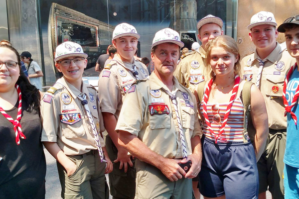 Scouts from Taylorsville and Poland met one another at a Washington, D.C. museum. (Robert Pieper)