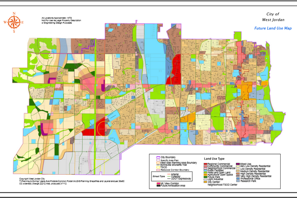 The Future Land Use Map is a template for development in the city. (West Jordan City)