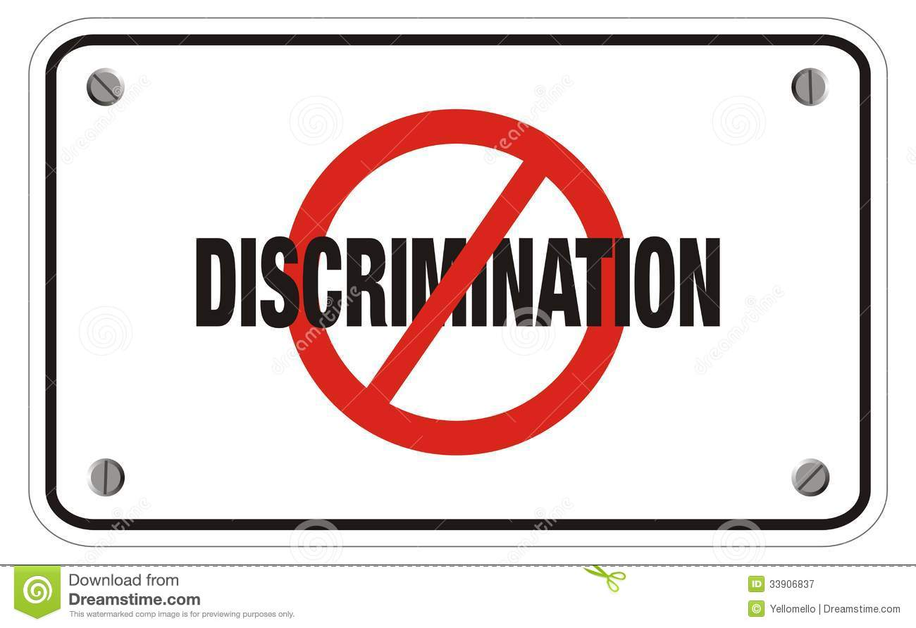 Anti discrimination rectangle sign suitable public 33906837