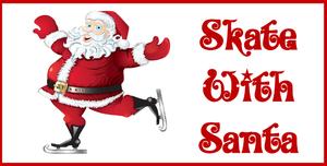 Medium skate with santa