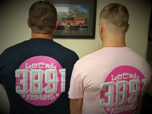 537686bff815 Every October, the KPFFA comes up with a t-shirt design to honor Breast  Cancer Awareness Month. According to Ryan Florence, President of the  Kennedale ...
