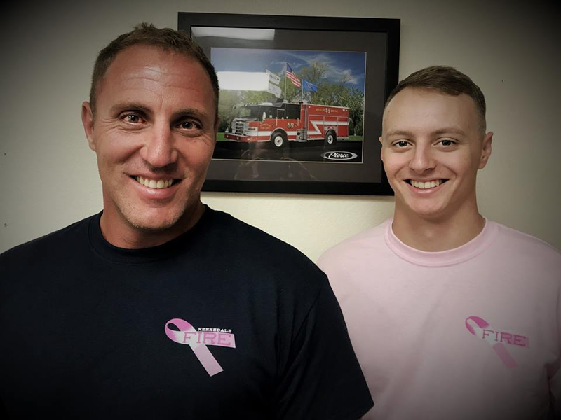 327cd6301663 Kennedale Firefighters are Selling T-Shirts in Honor of Breast Cancer  Awareness Month
