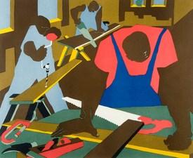Medium jacob lawrence carpenters silkscreen 19771 20 1  0