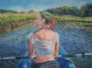 Medium blue 20kayak 20pastel 2015x20