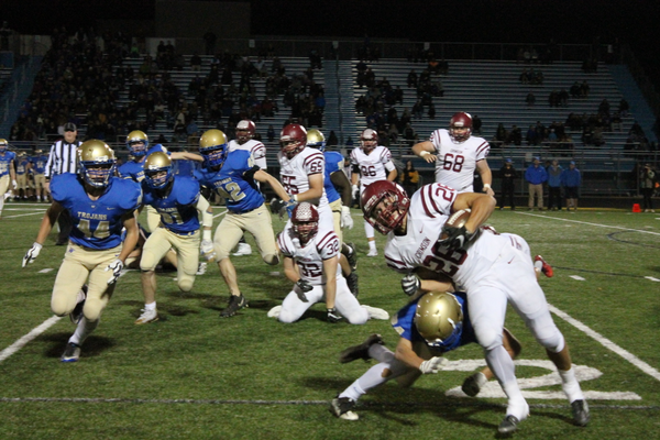 Evan Hull rushed for 138 yards on 26 carries in the 35-10 victory.