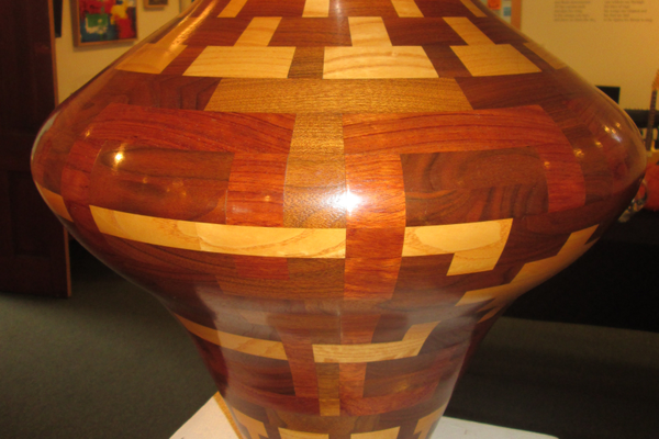 A turned wood vessel by George Radeschi.