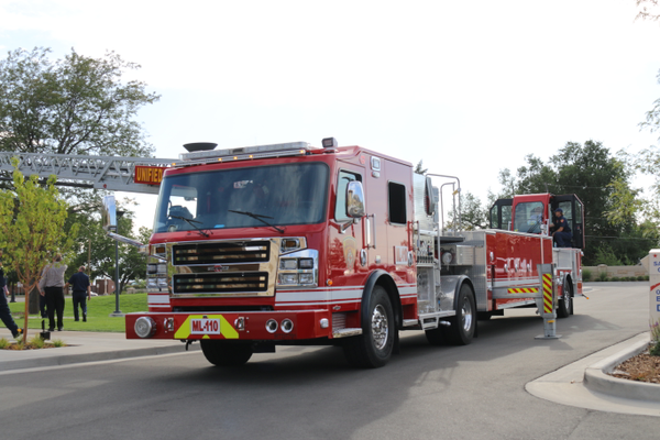 Station 110 is the first fire station with UFA to have a TDA Filler truck in service. (Cassie Goff/City Journals)