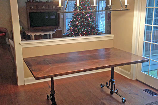 Tables like this one make use of Bell's innovative designs.