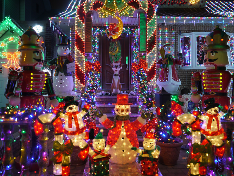 yes youll find candy canes on candy cane lane at ledgemont court in folsom and youll also find dozens of christmas characters lights galore and a