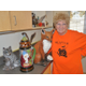 Taylorsville Senior Center ceramics patron June Pons shows off some of her handicrafts. (Carl Fauver)