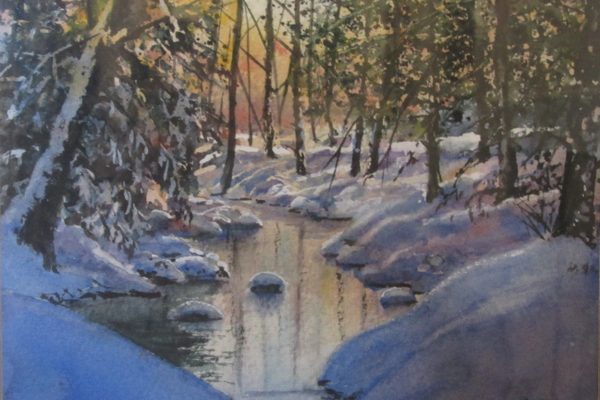 Glenn Blue's 'The Glow of Snow.'