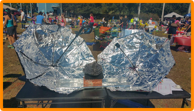 Solar cook off tinfoil