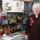 Gert Fowler at the Senior Center Craft Fair displays her handmade purses