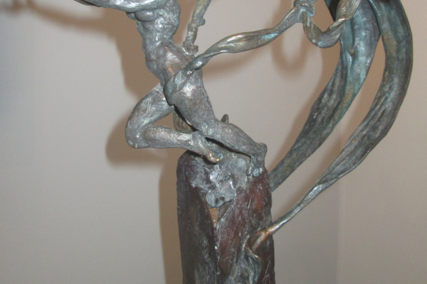 'Wind,' a bronze by sculptor Alejandro Lemus.