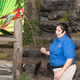 Green Winged Macaw with Cathy
