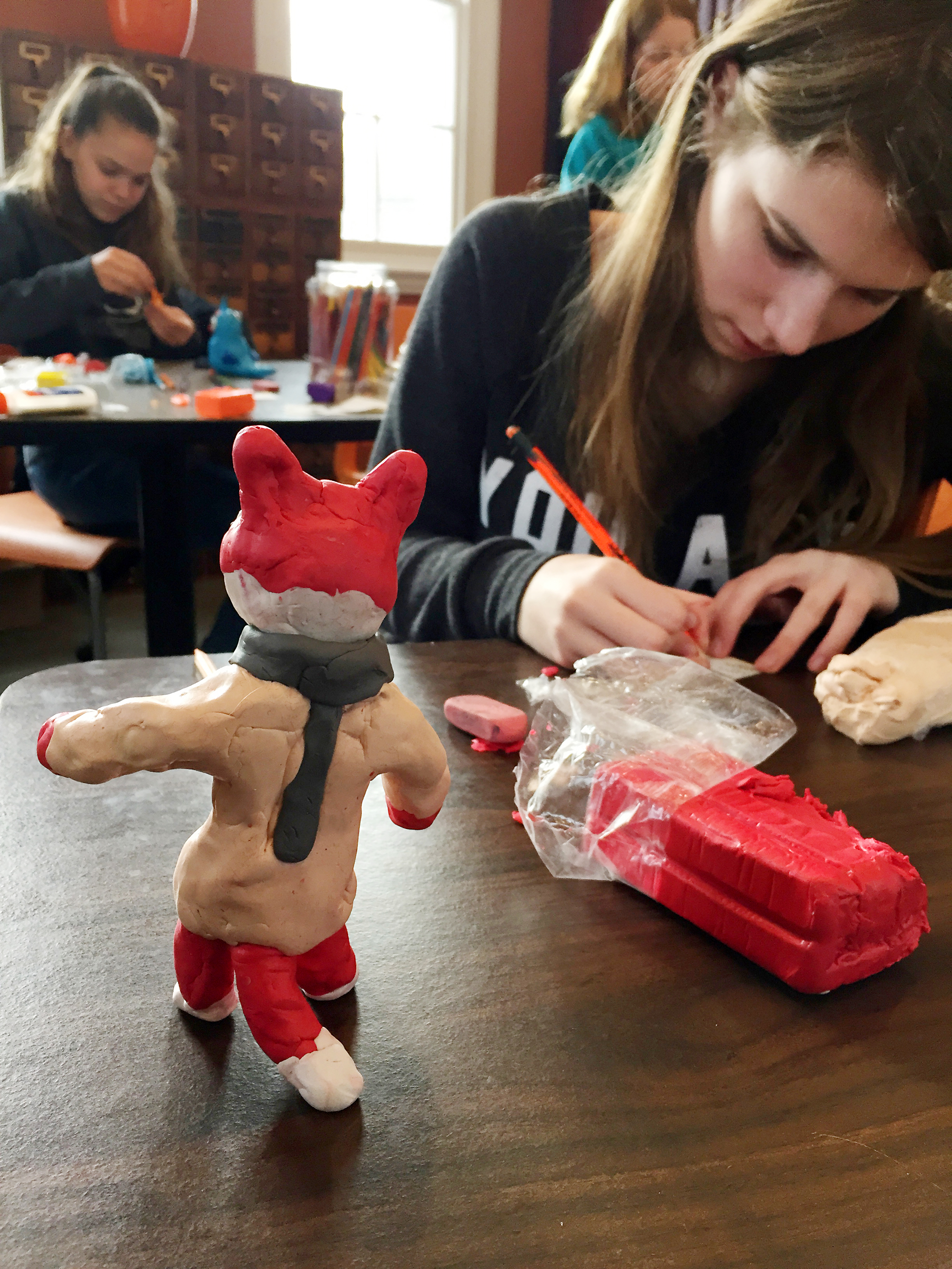 1 claymation fox