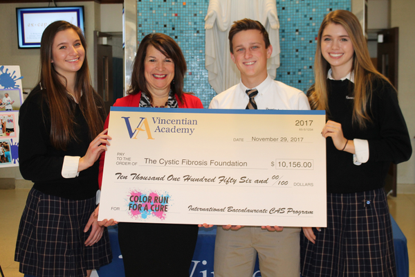 Vincentian Academy Students Raise Money for Cystic Fibrosis