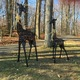 These two sculptures were recently returned to the Dunn family in Franklin Township after being stolen and missing for years