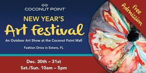 7th Annual Coconut Point New Years Art Festival - start Dec 30 2017 1000AM