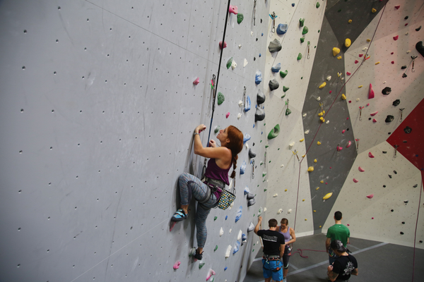 Rock climbing takes concentration and physical agility. With the right gear and adequate training, it's a sport that many can enjoy. Photo courtesy of Alec Kratoska.