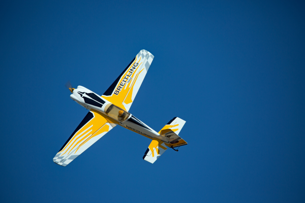 A replica Breitling stunt plane soars over Seahawk Park. Photo courtesy of R/Sea Hawks Cape Coral Flying Club.
