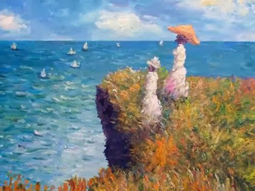 Monet cliff walk