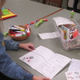 Handwritten sentiments filled every card made at Unionville Elementary.