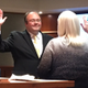 Swearing in of Councilman Jason McGuire. (Jennifer Gardiner/City Journals)