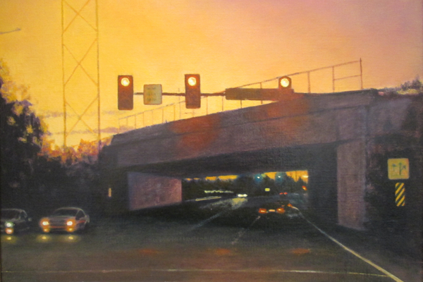 'Route 100 and Township Line Road' by Marie Wolfington Jones.