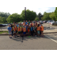 Storm drain painting group from Haine Middle School