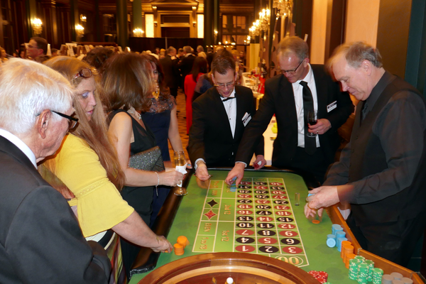 Casino games were part of the fun. All of the money raised at the casino tables went back into the  fundraiser.