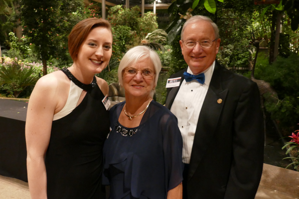 Rotary District 7459 District Governor David Haradon (right) with his wife Peggy, and former Rotarian Brooke Williams.