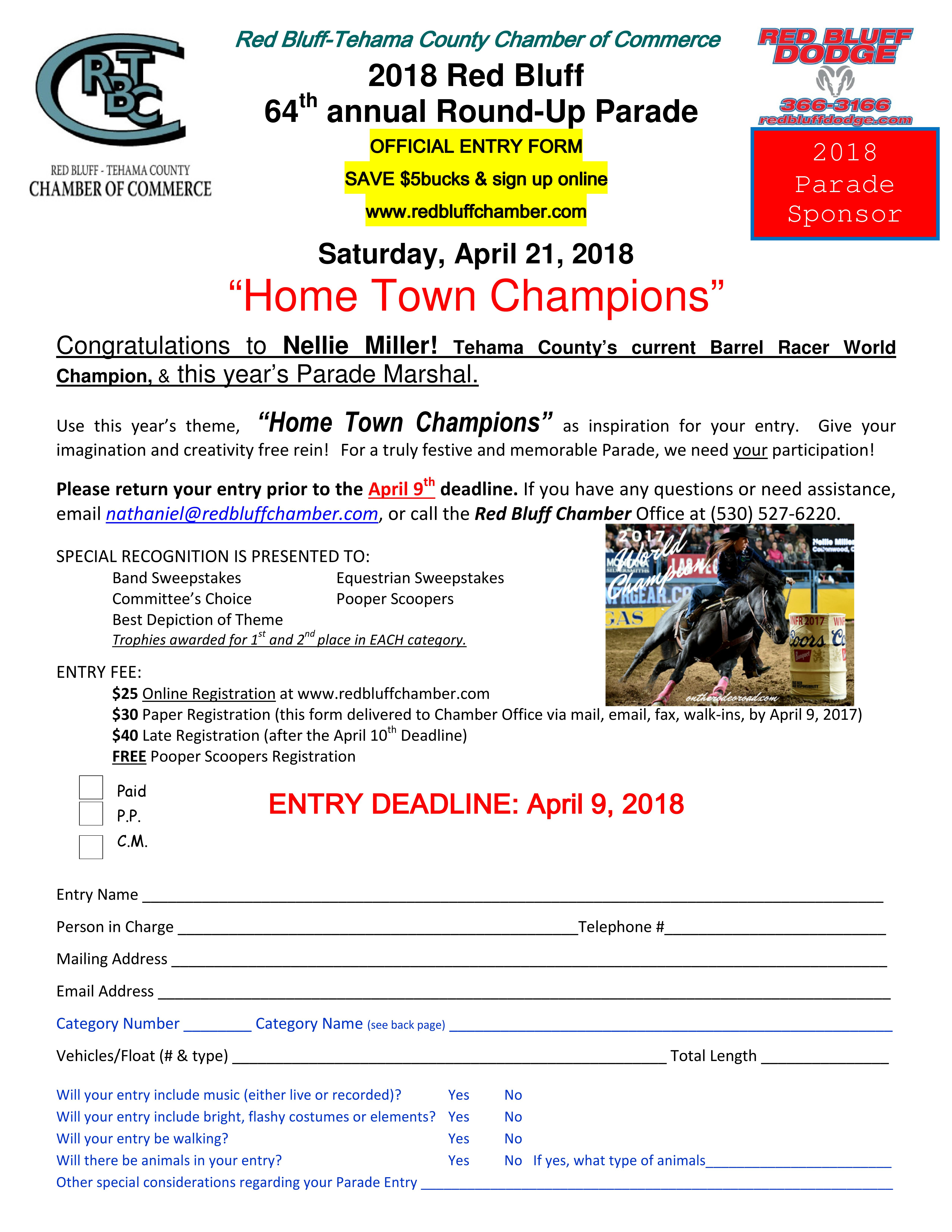 Parade 20entry 20form 202018 20 front
