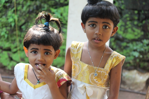 Just arrived:  Sisters Vaiga and Vaishnavi arrived at Snehibhavan recently, rescued from poverty and abuse by a local social worker.