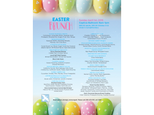 Easter Brunch 2018 - start Apr 01 2018 0900AM