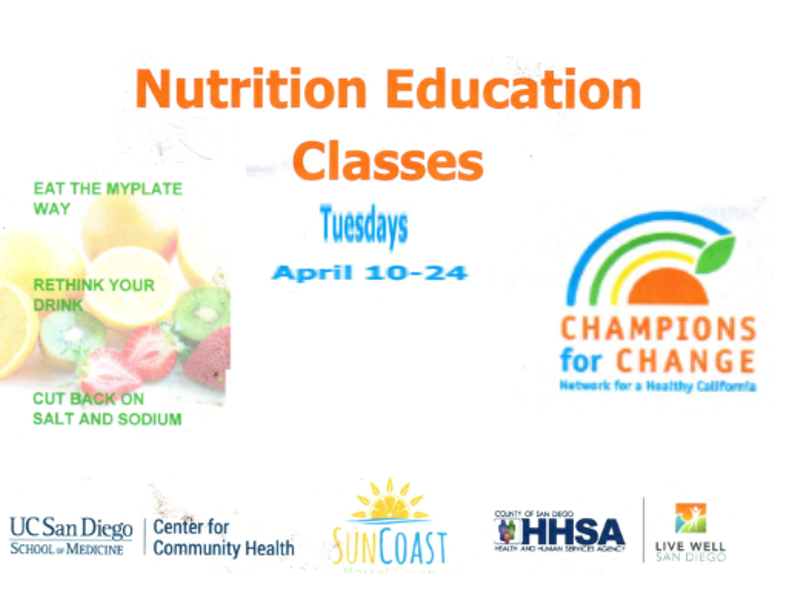 Free Weekly Nutrition Education Classes to be Offered at IB