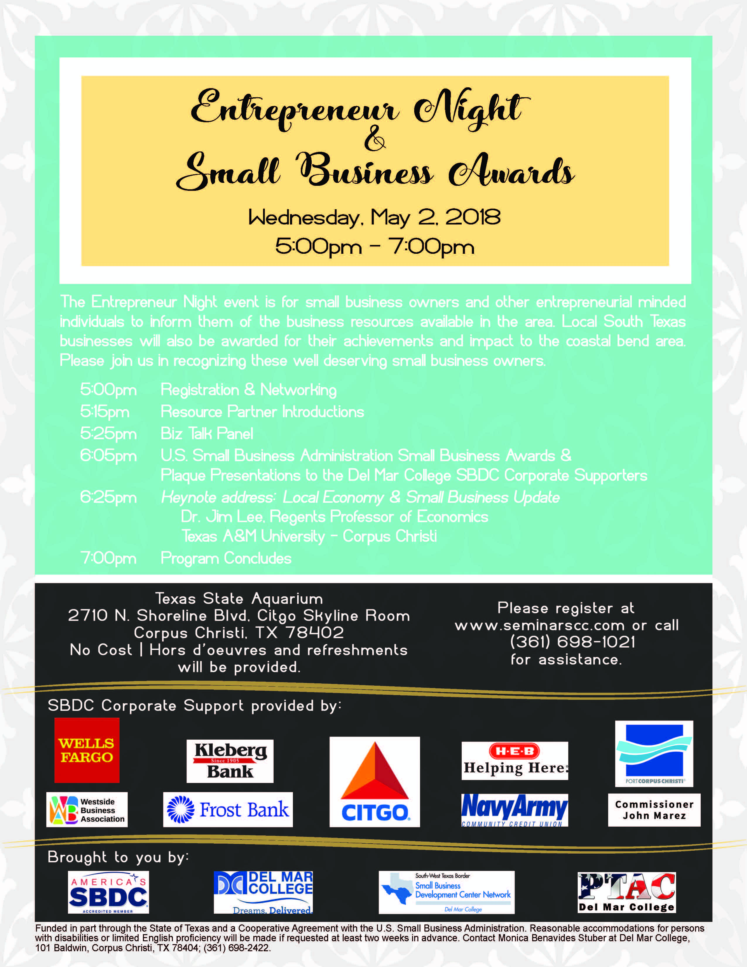 Flyer 20  20entrepreneur 20night 20small 20biz 20awards 202018.05.02