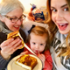 Lisa Keys of Kennett Square left picked up 10000 for this photo of herself her daughter and granddaughter enjoying Arnold bread