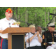 Jim Hastings speaks at last years Memorial Day ceremony
