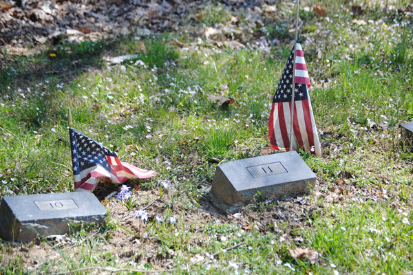 Some of the markers in the potter's field. (Photo by Steven Hoffman)