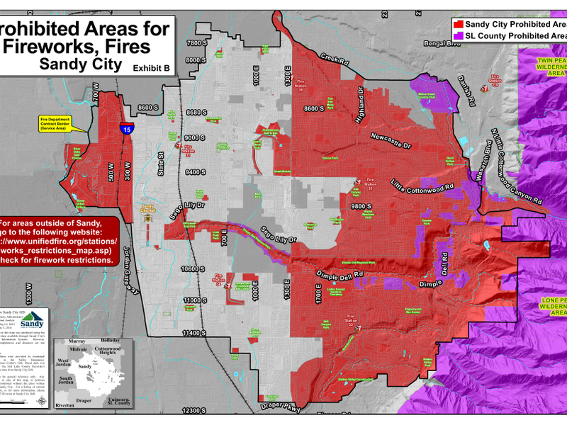 Sandy City Issues New Restrictions On Where When You Can Set Off